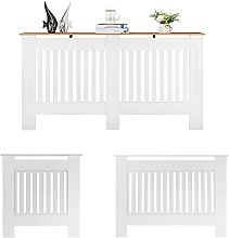 Radiator Cover White Modern Painted MDF Cabinet