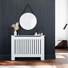 Radiator Covers Medium Modern Vertical Slat White