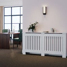 Radiator Covers Modern Slat White Painted Cabinet