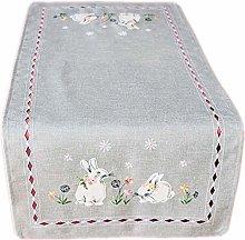 Raebel Easter Light Grey Table Cloth Table Runner