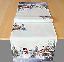 Raebel OHG Table Runner Print Two Santa Claus