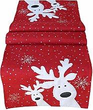 Raebel Table Cloth 85 x 85 cm Embroidery Funny Elk