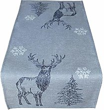Raebel Table Runner 40 x 140 cm Embroidery Moose