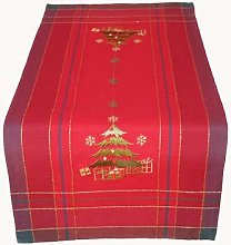 Raebel Table Runner 40 x 90 cm Embroidery Tree Red