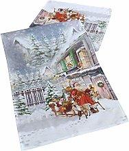 Raebel - Table runner – Santa Claus print motif
