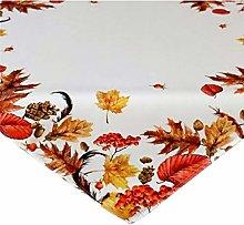 Raebel Tablecloth 85 x 85 cm Autumn Leaves Cream