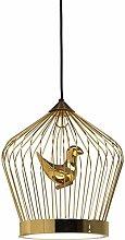 Raelf Golden Birdcage Lighting Modern Led