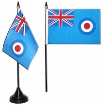 RAF Ensign Desk Table Top Flag