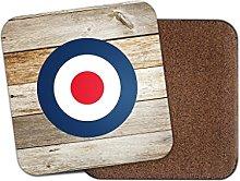 RAF Roundel The Who Mod Cork Backed Drinks Coaster