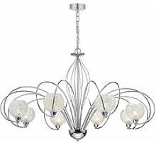 Rafferty pendant lamp polished chrome and crystal