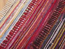 Rag Rug Dark Multicolour Cotton 140 x 200 cm