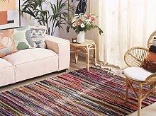 Rag Rug Dark Multicolour Cotton 160 x 230 cm