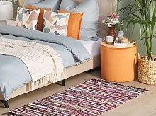 Rag Rug Dark Multicolour Cotton 80 x 150 cm