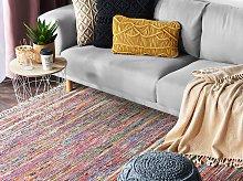 Rag Rug Light Multicolour Cotton 140 x 200 cm