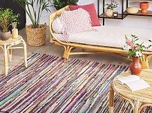 Rag Rug Light Multicolour Cotton 160 x 230 cm