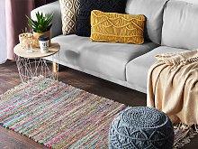 Rag Rug Light Multicolour Cotton 80 x 150 cm