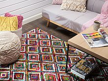 Rag Rug Multicolour Cotton 140 x 200 cm Braided