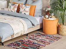 Rag Rug Multicolour with Cotton 80 x 150 cm