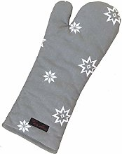 Ragged Rose Christmas Oven Gauntlet, 100% cotton,