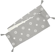 Ragged Rose Christmas Table Runner, Cotton, Silver