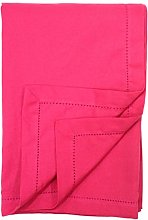 Ragged Rose Cotton Tablecloth, 100%, Bright Pink,