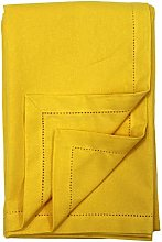 Ragged Rose Cotton Tablecloth, 100%, Gold, large