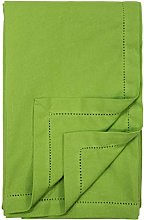 Ragged Rose Cotton Tablecloth, 100%, Lime Green,