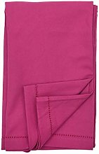 Ragged Rose Cotton Tablecloth, 100%, Magenta Pink,