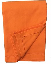 Ragged Rose Cotton Tablecloth, 100%, Orange, LARGE