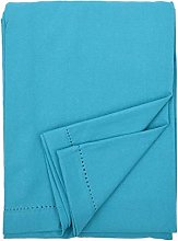 Ragged Rose Cotton Tablecloth, 100%, Teal Blue,