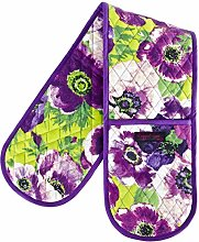 Ragged Rose Double Oven Gloves, Cotton, Purple, 85