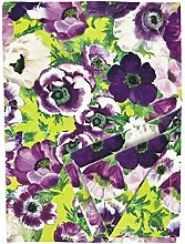 Ragged Rose Floral Tablecloth, Cotton, Purple, 140