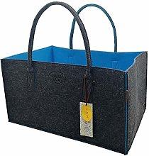 RAIKOU Felt Bag Firewood Basket Shopping Bag with