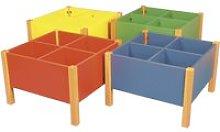 Rainbow 4 Bay Kinderbox With Beech Frame, Blue