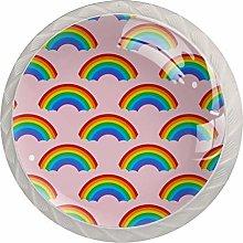 Rainbow 4PCS Drawer Knobs,Cabinet Knobs,Drawer