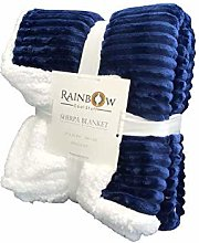 Rainbow Cool Stuff Quality Sherpa Throw blanket,
