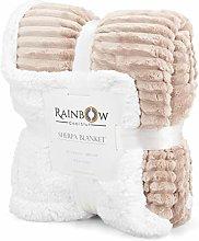 Rainbow Cool Stuff Sherpa Throw blanket,