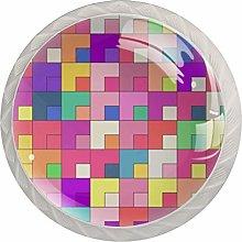 Rainbow Cube White Crystal Drawer Handles