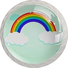 Rainbow Design 4 pcs Door Knob, Round Kitchen Door