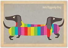 Rainbow Dogs by Anderson Design Group Graphic Art