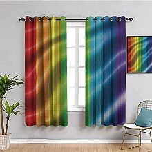 Rainbow Flag Blackout Window Curtains Gay Pride