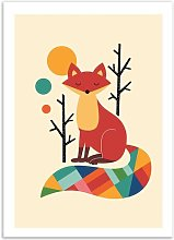 Rainbow Fox Paper Print Isabelle & Max