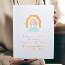 Rainbow Friendship Poem Wall Art Print | Gift for