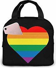 Rainbow Gay Pride Unisex Portable Reusable