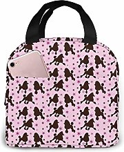 Rainbow Lion Poodle Star Lunch Bag for Women Girls