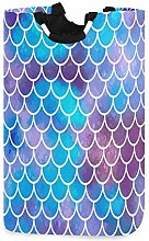 Rainbow Mermaid Scales Laundry Hamper Basket