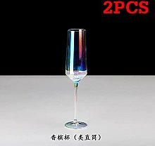 Rainbow Plating Goblet Wine Glass Crystal Cocktail