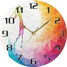 Rainbow Sport Golf Player Wall Clock Silent Non