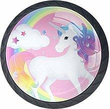 Rainbow Unicorn Cabinet Knobs 4 Pieces Drawer