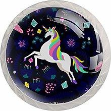Rainbow Unicorn Purple 4 Pieces Crystal Glass